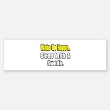 """...Sleep With a Swede"" Bumper Sticker (10 pk)"