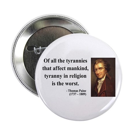 "Thomas Paine 21 2.25"" Button (10 pack)"