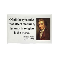 Thomas Paine 21 Rectangle Magnet (10 pack)