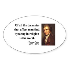 Thomas Paine 21 Oval Decal