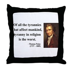 Thomas Paine 21 Throw Pillow