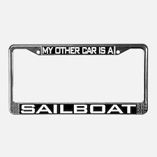 Sailboat License Plate Frame