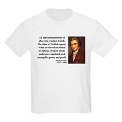 Thomas Paine 22 Kids Light T-Shirt