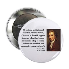 """Thomas Paine 22 2.25"""" Button (10 pack)"""
