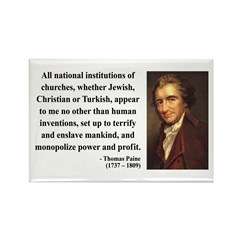 Thomas Paine 22 Rectangle Magnet (100 pack)