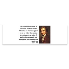 Thomas Paine 22 Bumper Bumper Sticker