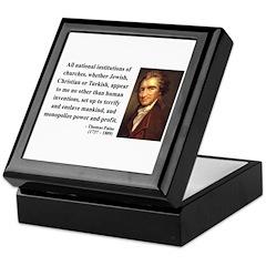 Thomas Paine 22 Keepsake Box