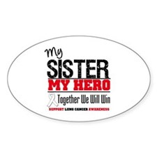 Lung Cancer Hero Oval Decal