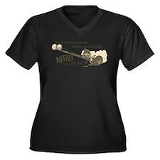 NITRO Women's Plus Size V-Neck Dark T-Shirt