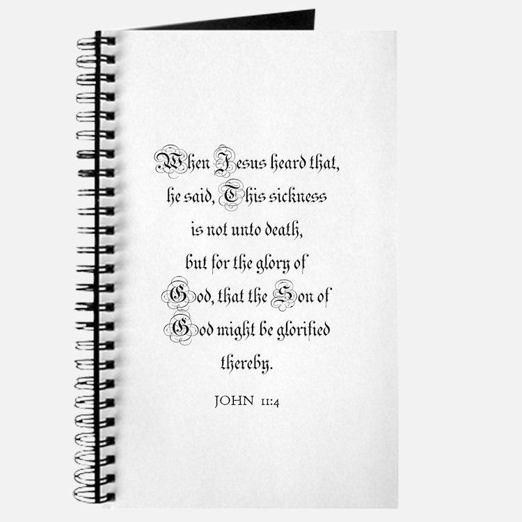 JOHN 11:4 Journal