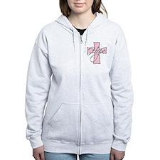 Pink Hope Cross Zip Hoodie