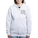 Thomas Paine 22 Women's Zip Hoodie