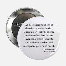 """Thomas Paine 22 2.25"""" Button"""