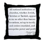 Thomas Paine 22 Throw Pillow