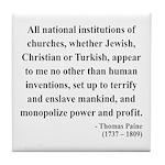 Thomas Paine 22 Tile Coaster
