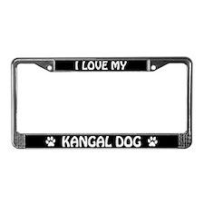 I Love My Kangal Dog License Plate Frame