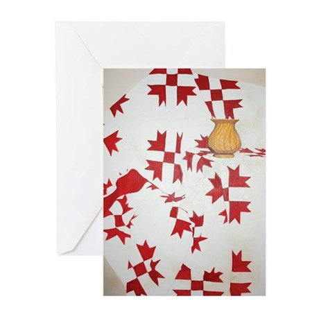 Red Quilt Greeting Cards (Pk of 10)