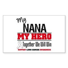 Lung Cancer Hero Rectangle Decal