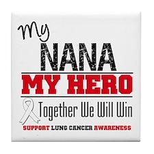 Lung Cancer Hero Tile Coaster