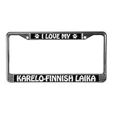 I Love My Karelo-Finnish Laika License Plate Frame