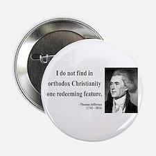 """Thomas Jefferson 12 2.25"""" Button"""