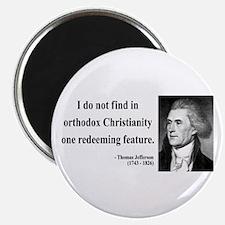 "Thomas Jefferson 12 2.25"" Magnet (100 pack)"