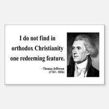 Thomas Jefferson 12 Rectangle Decal