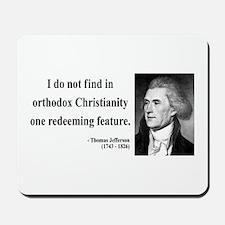 Thomas Jefferson 12 Mousepad