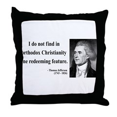 Thomas Jefferson 12 Throw Pillow