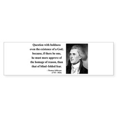 Thomas Jefferson 13 Bumper Bumper Sticker