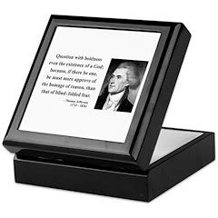 Thomas Jefferson 13 Keepsake Box
