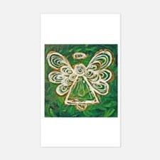 Green Angel Painting Rectangle Decal