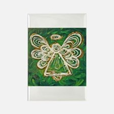 Green Angel Painting Rectangle Magnet
