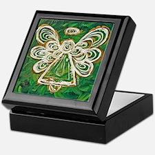 Green Angel Painting Keepsake Box