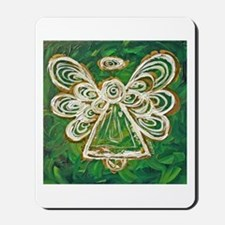 Green Angel Painting Mousepad