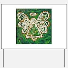Green Angel Painting Yard Sign