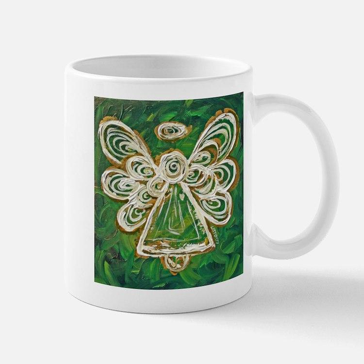 Green Angel Painting Mug
