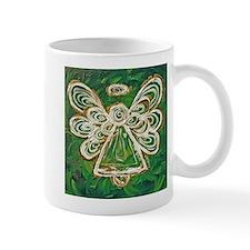 Green Angel Painting Small Mug