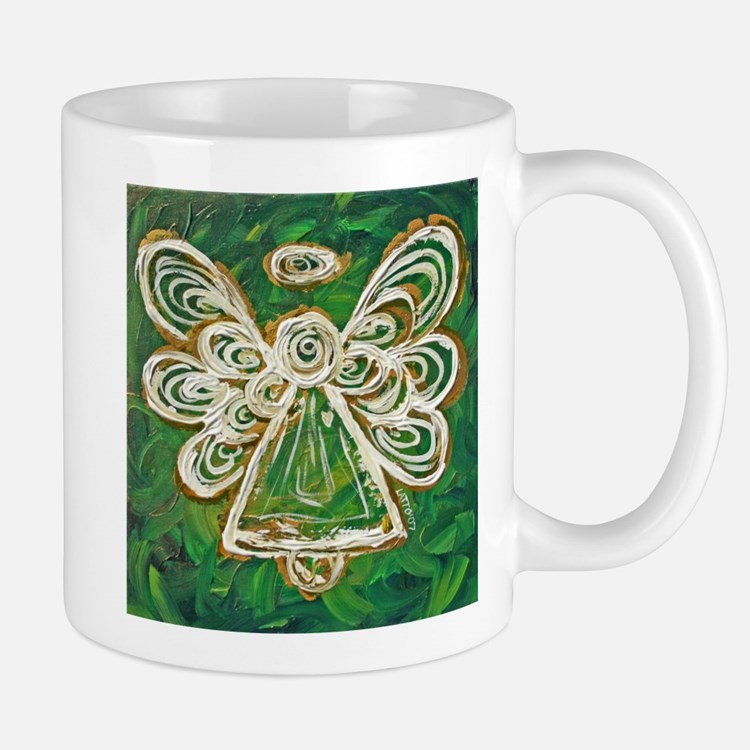 Green Angel Painting Small Small Mug