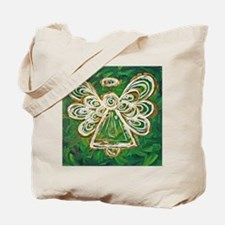 Green Angel Painting Tote Bag