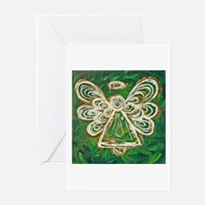 Green Angel Painting Greeting Cards (Pk of 20)
