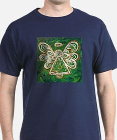 Green Angel Painting T-Shirt