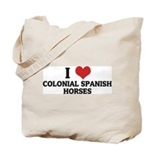 I Love Colonial Spanish Horse Tote Bag