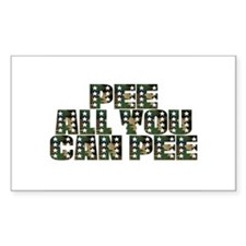 PEE All You Can PEE! Rectangle Decal