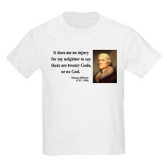 Thomas Jefferson 9 Kids Light T-Shirt