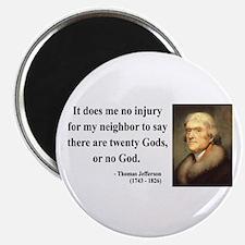 "Thomas Jefferson 9 2.25"" Magnet (100 pack)"