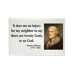 Thomas Jefferson 9 Rectangle Magnet