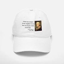 Thomas Jefferson 9 Baseball Baseball Cap