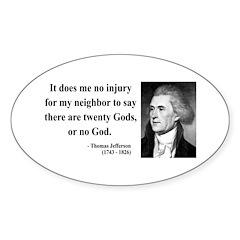 Thomas Jefferson 9 Oval Decal