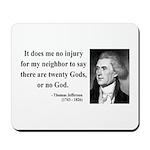 Thomas Jefferson 9 Mousepad